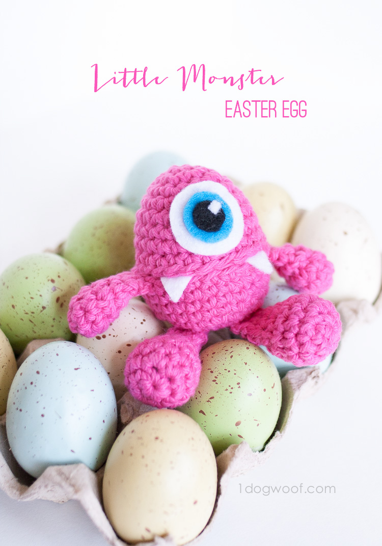 Little Monster Easter Egg Crochet Pattern - One Dog Woof