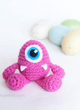 Little Monster Easter Egg Crochet Pattern