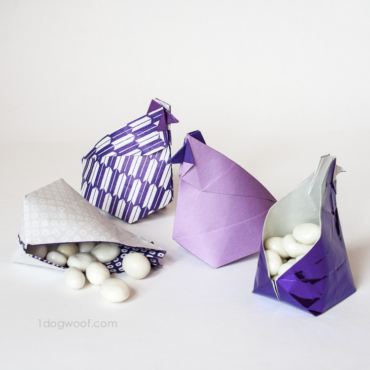 Origami Hen Treat Box | www.1dogwoof.com