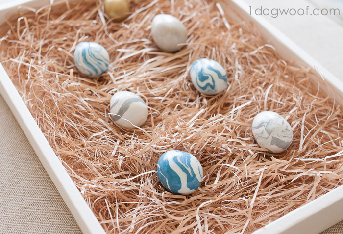 Marbleized Polymer Clay Eggs | www.1dogwoof.com