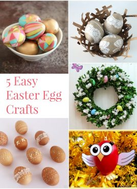 5 Easy Easter Egg Crafts at The Project Stash