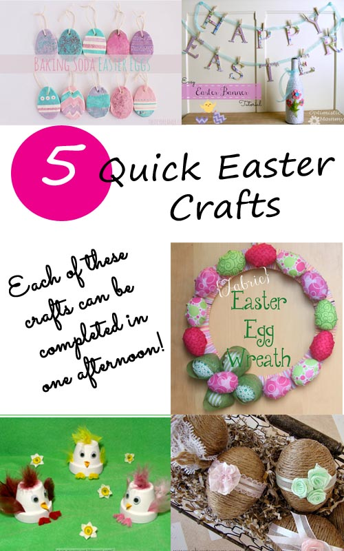 5 Quick Easter Crafts at www.1dogwoof.com