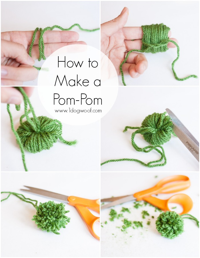 How to Make a Pom-Pom | www.1dogwoof.com