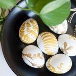 Gold Fern Easter Eggs