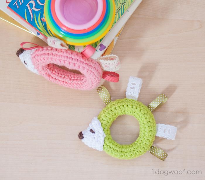 Hedgehog Taggie Baby Toy Crochet Pattern - One Dog Woof