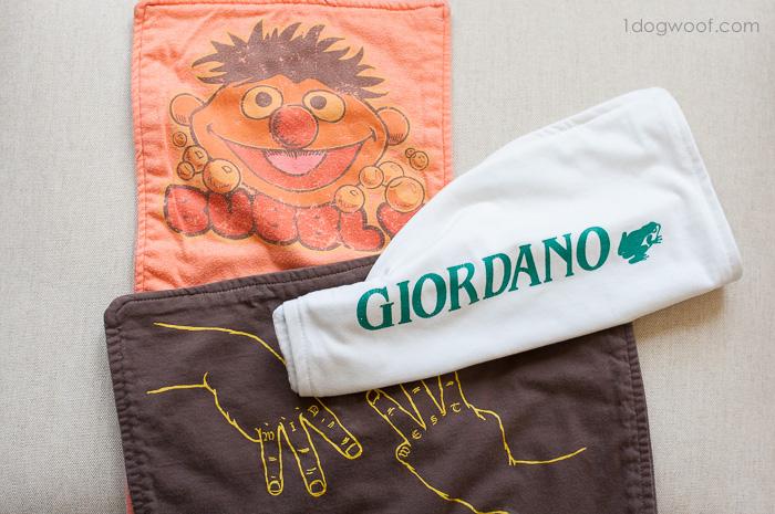 Turn your old tshirts into burp cloths   www.1dogwoof.com
