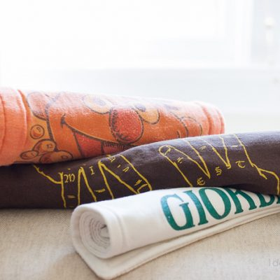 Easy Repurposed T-shirt Burp Cloths