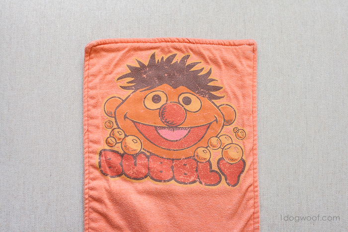 Repurpose a well-loved t-shirt into a well-loved burp cloth | www.1dogwoof.com