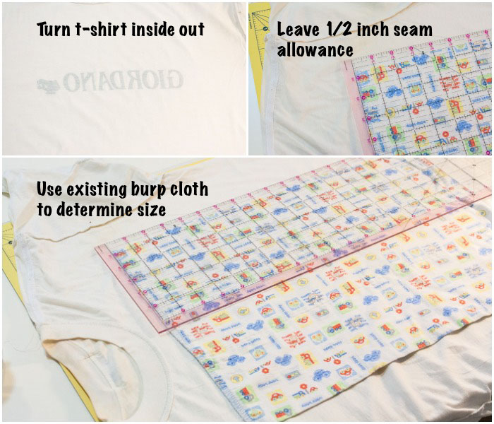 How to turn an old t-shirt into a burp cloth | www.1dogwoof.com