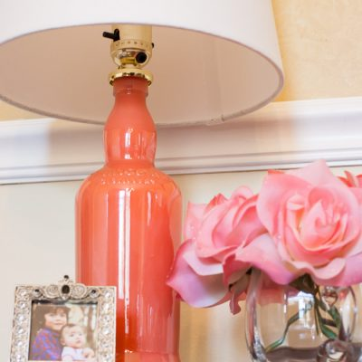 DIY Painted Bottle Lamp Upcycle