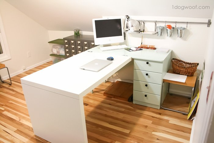 Ikea craft desk hack | www.1dogwoof.com
