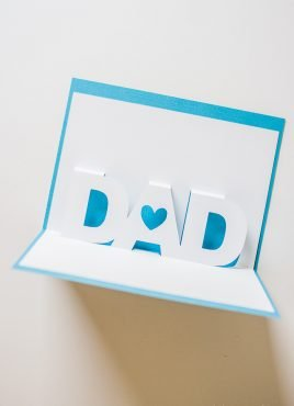 Father's Day Pop-Up Card with Free Silhouette Templates