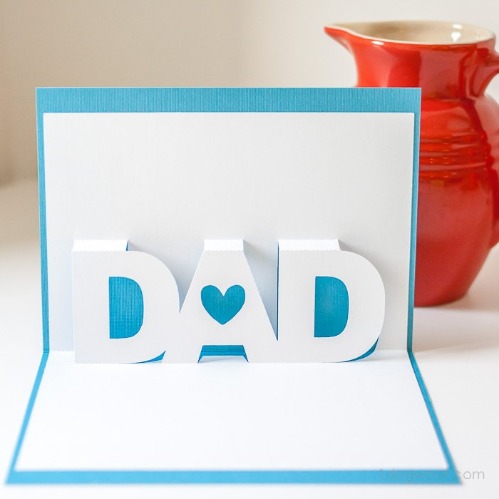 Father 39 S Day Pop Up Card With Free Silhouette Templates