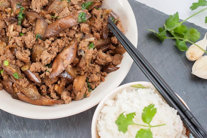 Eggplant Pork Stir-fry | www.1dogwoof.com