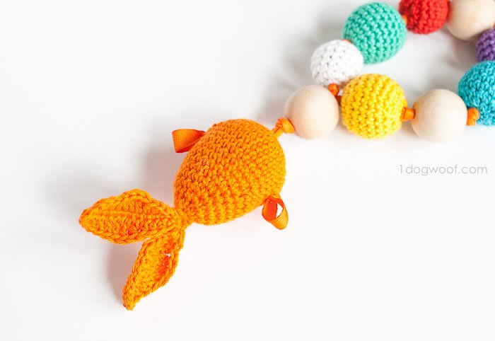 Goldfish teether + rattle | www.1dogwoof.com
