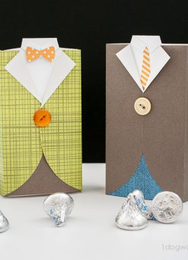 Men's Suit Gift Box and Treat Holder