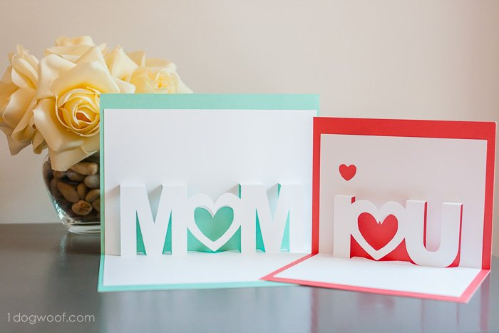 twisting hearts pop up card template - mom i love you pop up cards with free silhouette cut