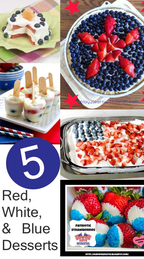 Patriotic and so yummy!  Red, white and blue desserts at www.1dogwoof.com