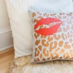 Create a Layered & Stenciled Pillow with Tulip For Your Home