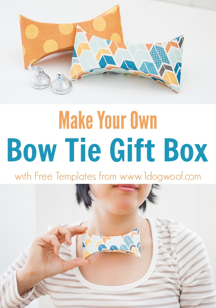 make your own Bow Tie Gift Box - super cute and useful for Father's Day! | www.1dogwoof.com