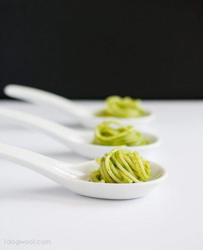Garlic Chive Pesto Pasta | www.1dogwoof.com