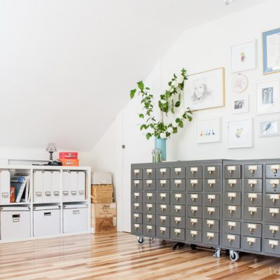 Attic Craft Room Reveal