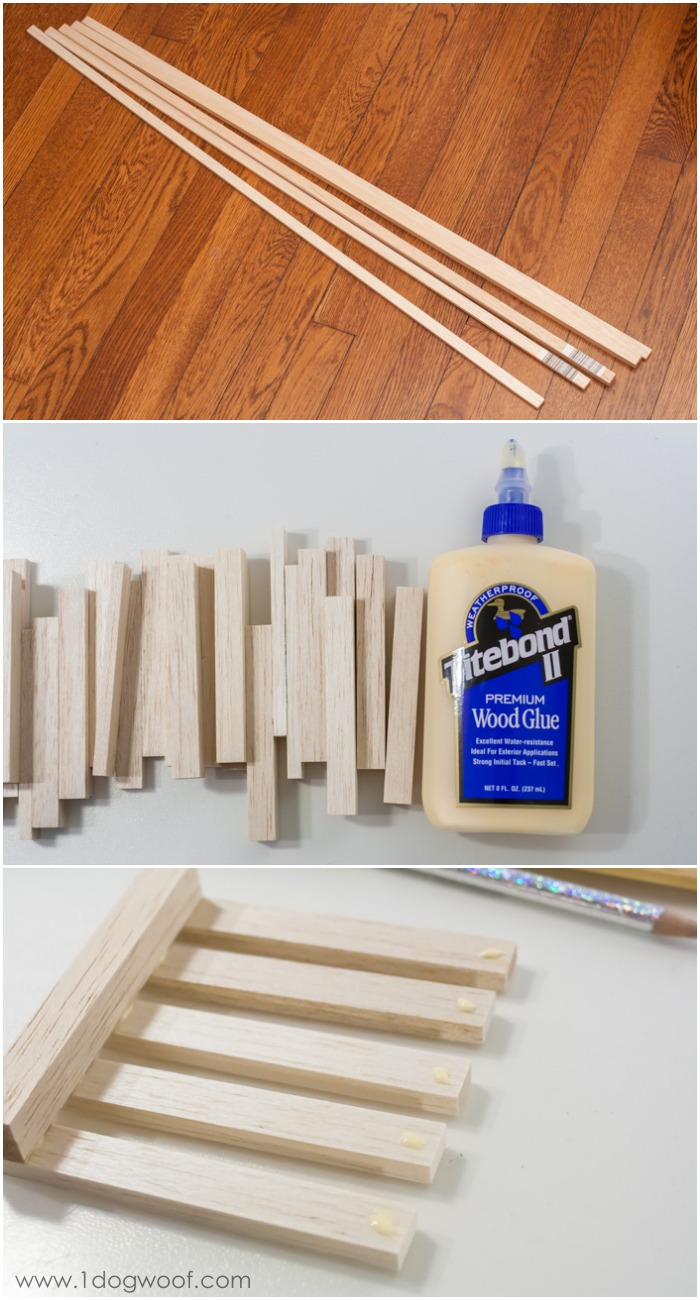 wooden pallet coasters from dowels | www.1dogwoof.com