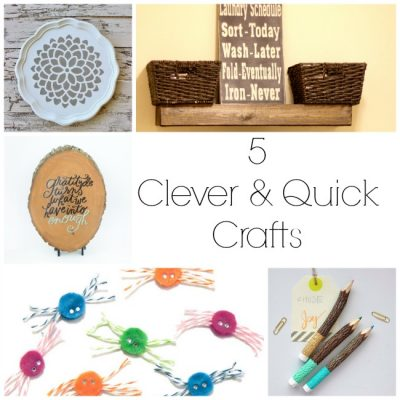 Quick and Clever Crafts at The Project Stash