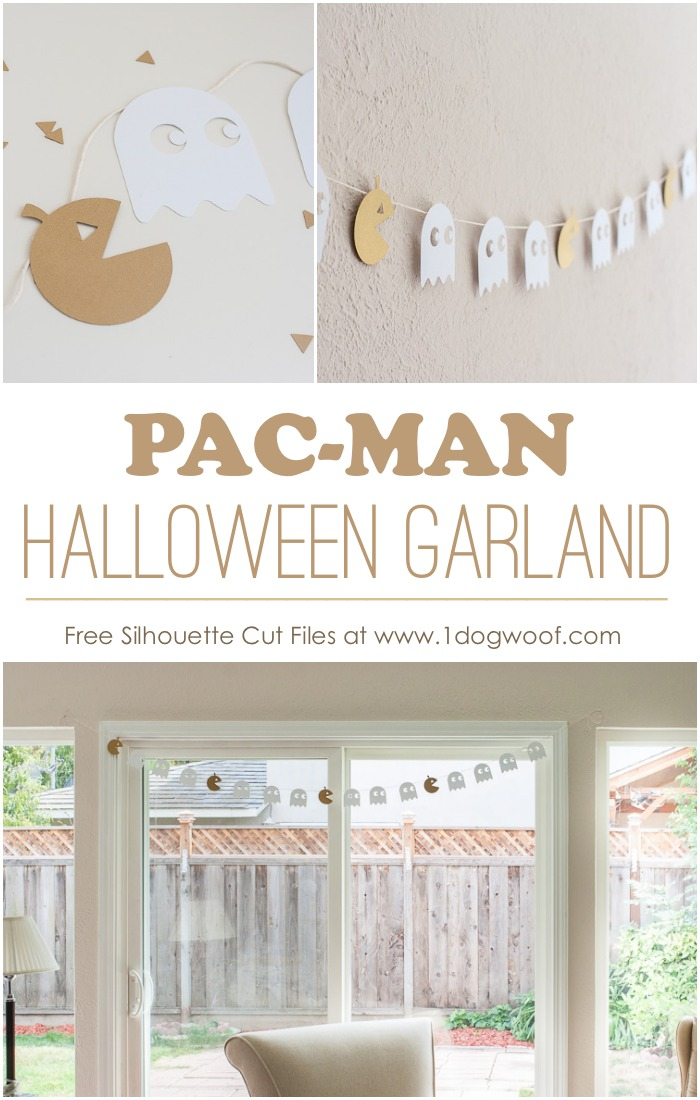 Pacman Halloween Garland with Free Silhouette Cut Files
