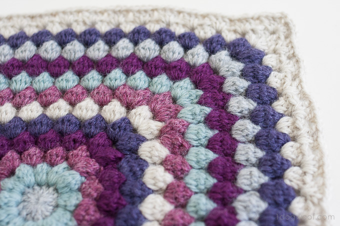 Bobble Stitch Afghan Square Blog Hop Cal One Dog Woof