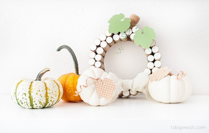 Love this little collection of pumpkins! The copper wire is so cute! | www.1dogwoof.com