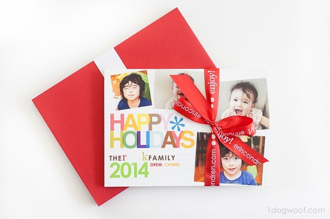 Beautiful Erin Condren Christmas cards | www.1dogwoof.com