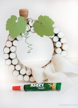 White Pumpkin Cork Wreath