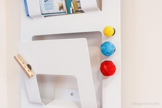 Fun yarn ball magnets - great scrapbuster! | www.1dogwoof.com