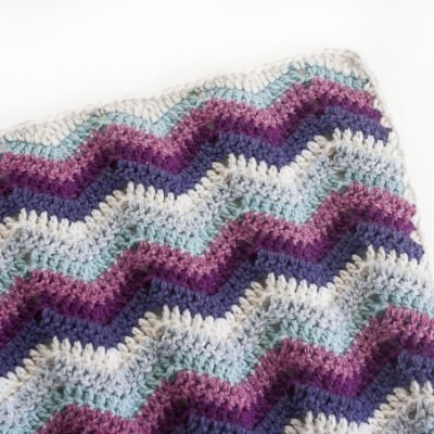 Ripple Chevron Afghan Square