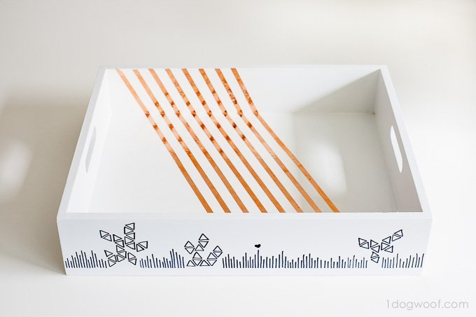 Use a Sharpie to doodle on a wooden tray | www.1dogwoof.com