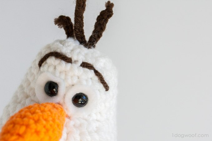 Amigurumi Olaf Tutorial : Olaf from frozen crochet amigurumi pattern one dog woof