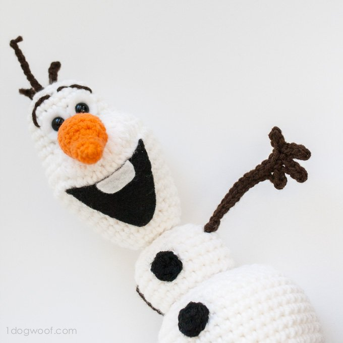 Olaf from Frozen Crochet Amigurumi Pattern - One Dog Woof
