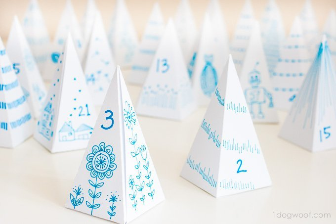 Triangle box advent calendar | www.1dogwoof.com
