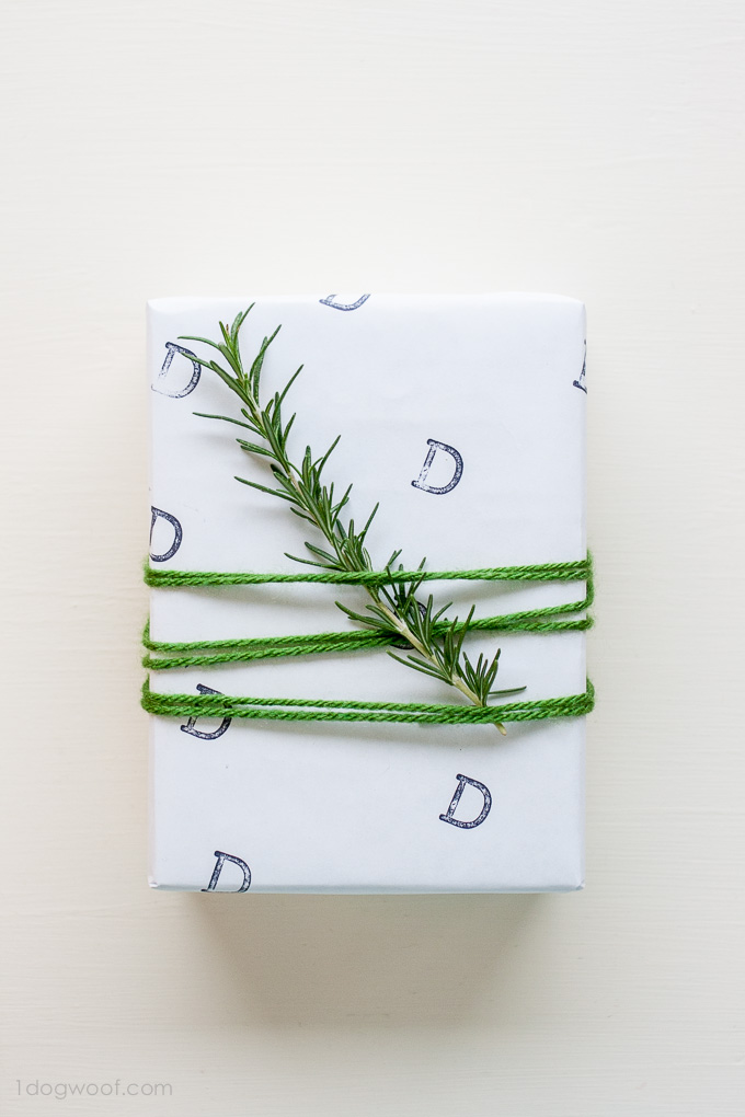 Personalized Stamped Gift Wrap