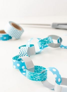 Washi Tape Paper Chain Garland