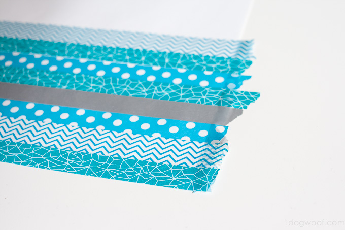 Make paper chain garlands from washi tape! | www.1dogwoof.com