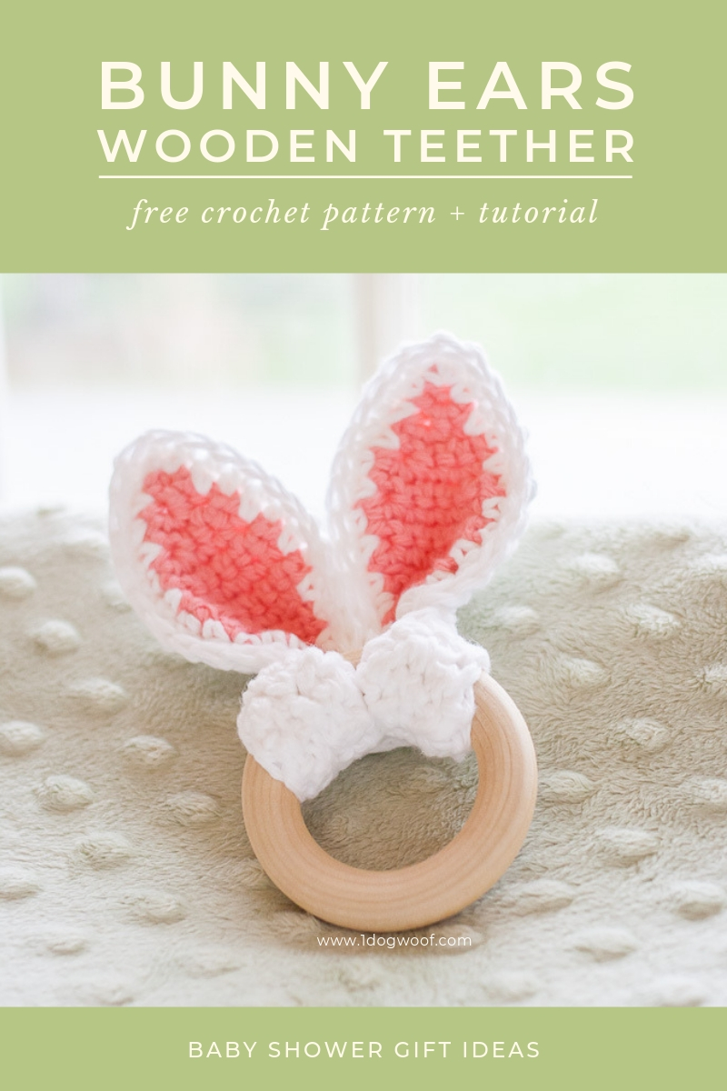 bunny ears wooden teether