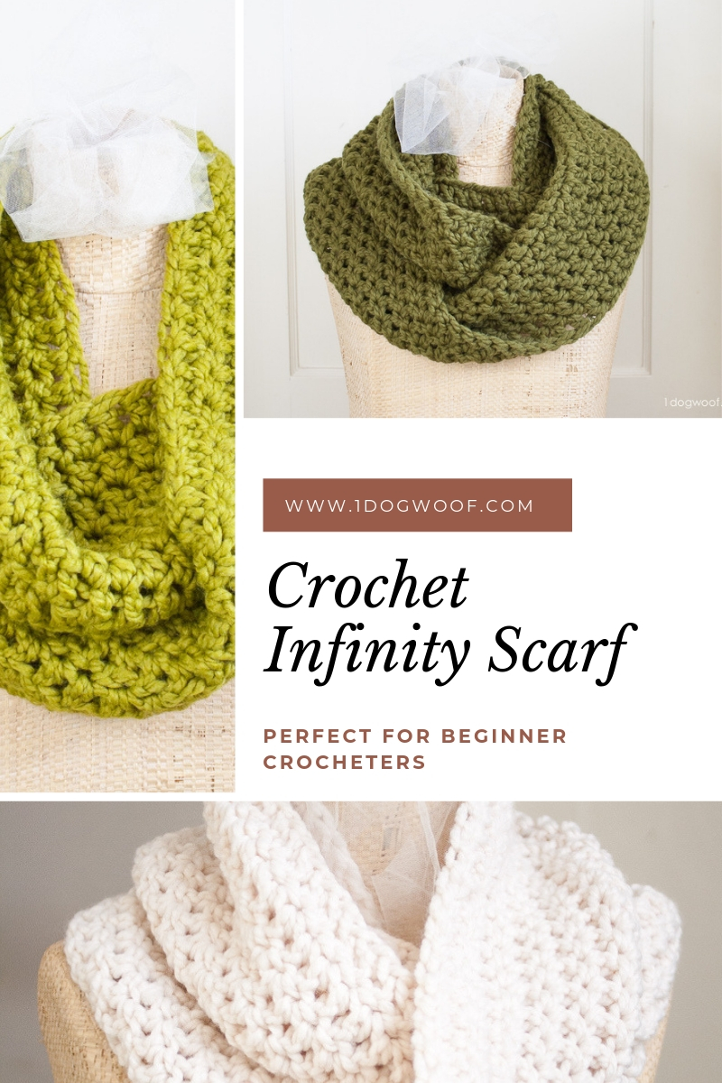 cozy crochet infinity scarf collage