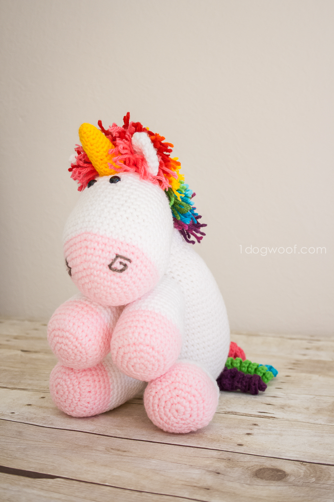 Rainbow Cuddles Crochet Unicorn Pattern One Dog Woof Impressive Unicorn Crochet Pattern