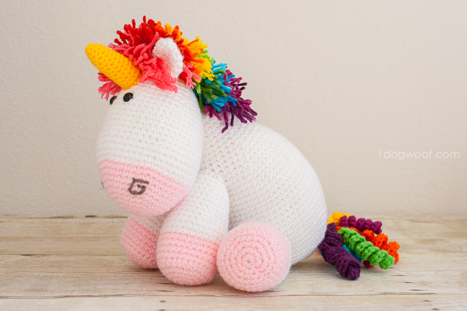 Crochet Unicorn : ... and colorful crochet unicorn? Free pattern too! www.1dogwoof.com