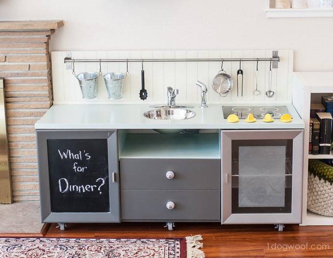 Secrets Of How We Built Our Diy Play Kitchen For Under 90 Www 1dogwoof