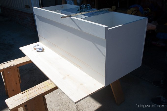 Secrets of how we built our diy play kitchen for under $90 | www.1dogwoof.com