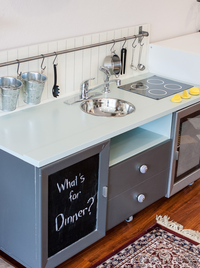 Secrets of How We Built Our DIY Play Kitchen for Under $90