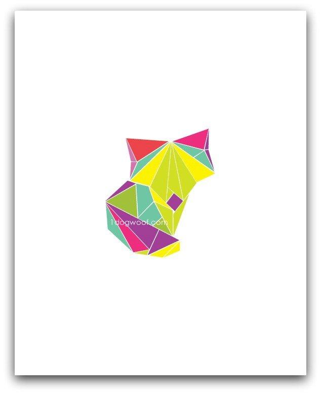 Origami_fox_nursery_print_5x7